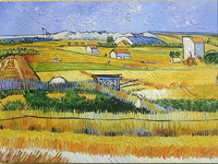Village wall pictures for living room high quality reproduction artwork of Van Gogh modern painting gift for friends No Frame