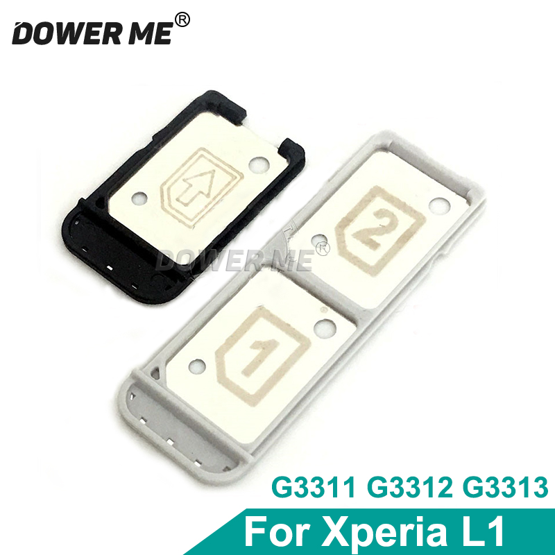 Dower Me Replacement For Sony Xperia L1 G3311 G3312 G3313 Single Dual Sim Tray Sim Card Reader Holder