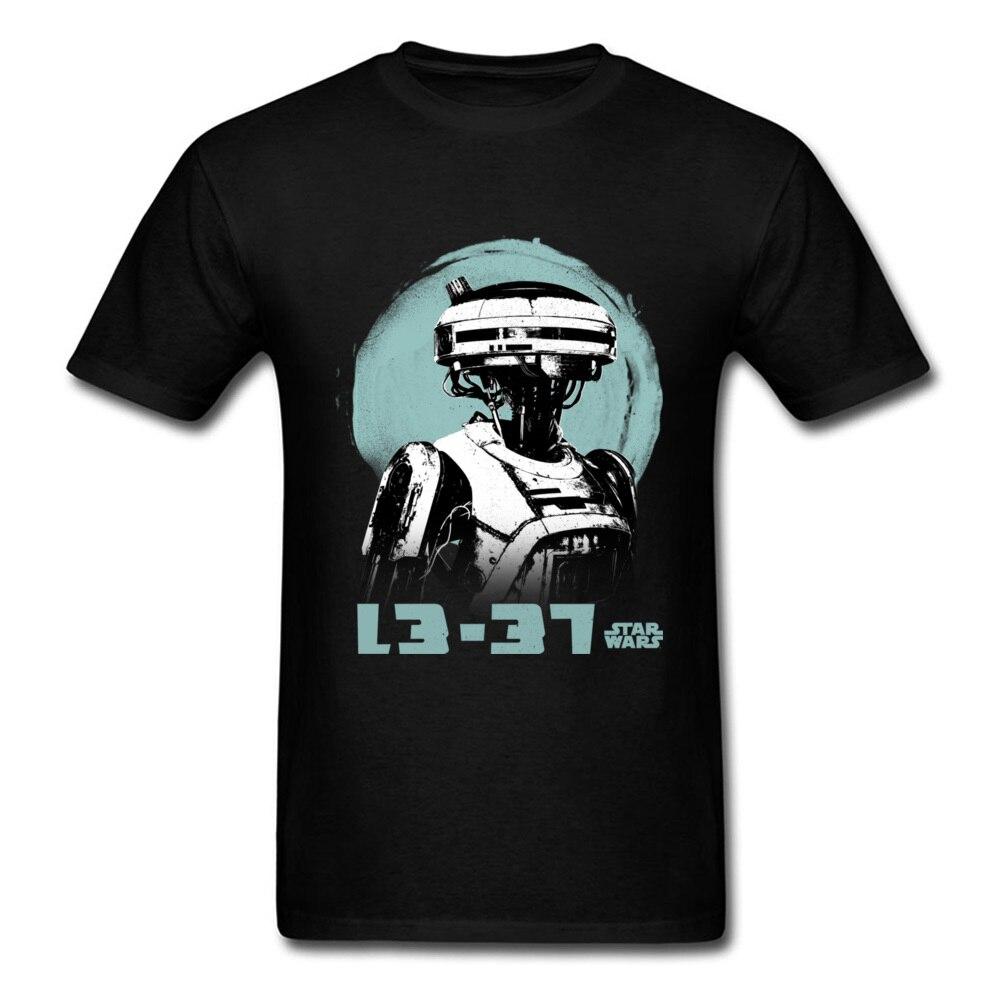 L3-37 Star Wars T-shirt Vintage T Shirt Men Hip Hop Tee Graphic Clothing 100% Cotton Tops Robot Tshirt Punk Black Top