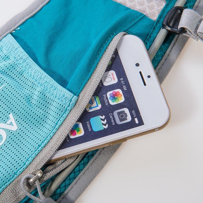 AONIJIE hombres mujeres corriendo mochila al aire libre de Deportes de pista de carreras de senderismo maratón Fitness hidratación chaleco paquete 1.5L bolsa 500 ml hervidor de agua - 5