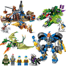 Building Block War of Glory Castle Knights blacksmith's shop 3 Figures Bricks Toy Compatible With Legoings Boy Gift цена