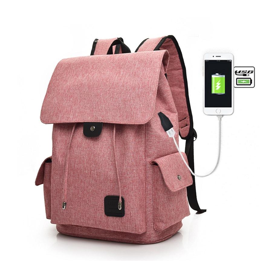 Fashion USB Charging Backpack Women Casual Oxford Backpacks Ladies Travel Bags Woman Solid Black School Bag Female 2017 Bolsa