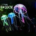 8*20cm Glowing Effect Environmentally Friendly Materials No Odor Aquarium Fish Tank Decorations Artificial Simulation Jellyfish