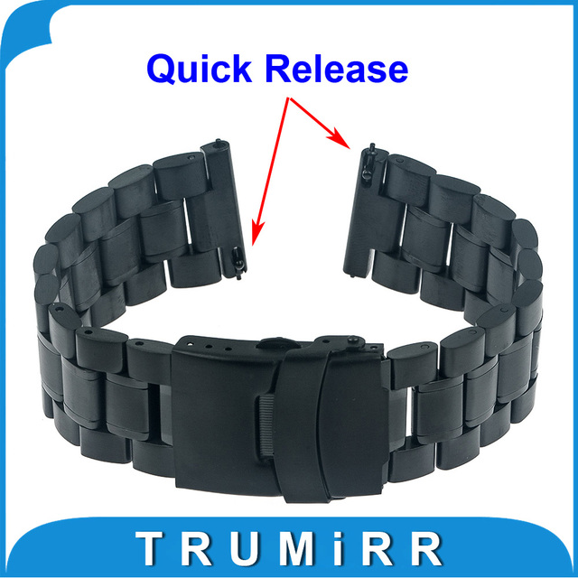 22mm Quick Release Watch Band for LG G Watch W100 R W110 Urbane W150 Asus Zenwatch 1 2 22mm Pebble Time Buckle Bracelet Strap
