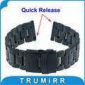 Venda de reloj de 22mm de liberación rápida para lg g watch w100 r w110 urbano asus zenwatch 1 2 22 w150 mm guijarro tiempo correa de hebilla de pulsera