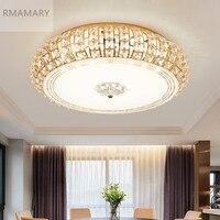 Современные Серебро Золото потолочный светильник хрустальный 3 цвета белый теплый белый светодиодный круглый гостиная светодиодный свет к