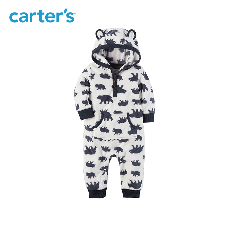 afa93f08b000c Striped cute dinosaur embroidery cozy hooded zip up jumpsuit one ...