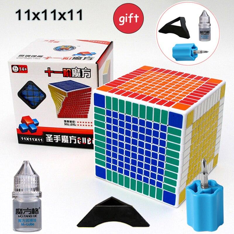 Nouveau ShengShou 11x11x11 Cube Cube de Vitesse 4 pièces Costume Professionnel Cubo Magico Puzzle Cube Jouets Pour Enfant Adulte Cadeau