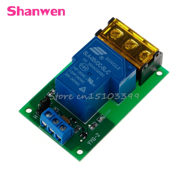 1 Channel 5V 30A Relay Board Module Optocoupler Isolation High/Low Trigger G08 Drop ship 1pcs 8 channel 12v relay module with optocoupler isolation supports high and low trigger
