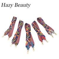 Hazy Beauty 2017 New Cotton Women Handbag Guitar Strap Bohemian Stylish Bag Stripe Fashion Slogan Girls