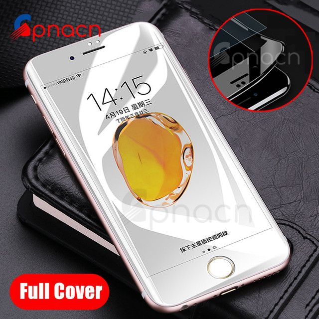 4D 9H Curved Edge Full Cover Tempered Glass For iPhone 7 6 S 6S 8 Plus Screen Protector For iPhone 7 Plus Protection Film Case Phone Screen Protectors