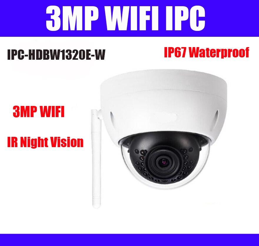 3MP wifi ip camera IPC HDBW1320E W 30M IR IP67 SD Card slot DH IPC HDBW1320E