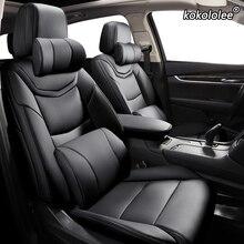 Kokololee niestandardowe skórzane siedzenia samochodu obudowa do vw T krzyż C TREK Volkswagen CC SANTANA JETTA BORA siedzenia samochodowe pokrowce na