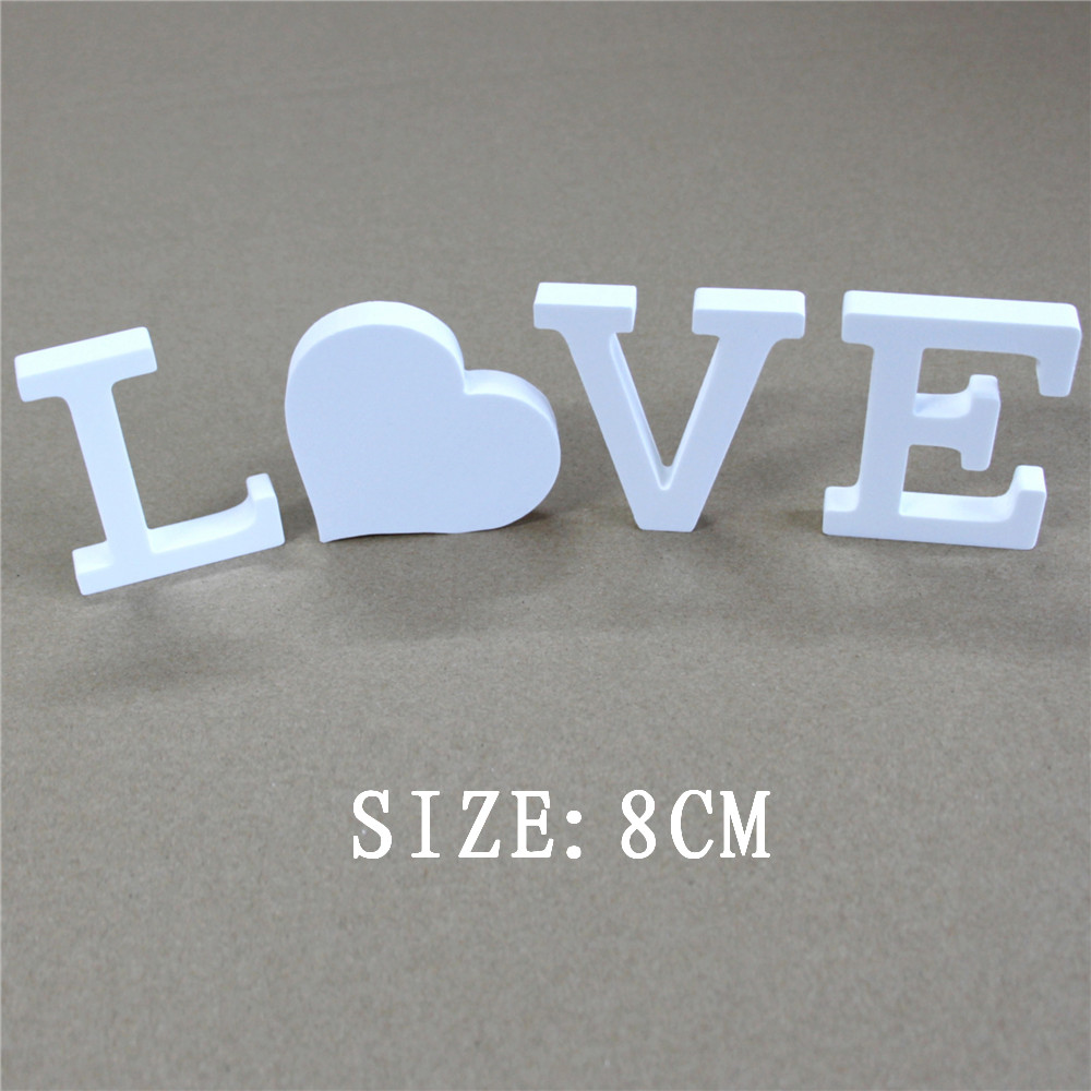 Creative Home Decor 8cm Wood Craft Wooden Letters Alphabet For Hotel Bar Shops Birthday Party Home Wedding Decorations Gifts