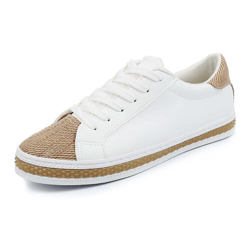fe83e00aec1 2017 Spring Women s Vulcanize Shoes white canvas shoes female fashion casual  shoes flat with low leather shoes black size 35 40-in Women s Vulcanize  Shoes ...