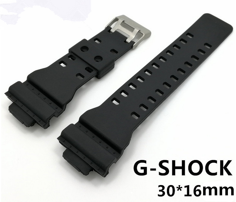 Wholesale 20PCS/lot 16MM*30MM For G-SHOCK Rubber bands Watch band watch strap watch parts-WR422