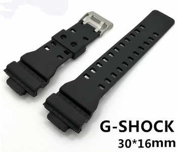 Wholesale 20PCS/lot 16MM*30MM For G-SHOCK Rubber bands Watch band watch strap watch parts-WR422 - DISCOUNT ITEM  10% OFF All Category