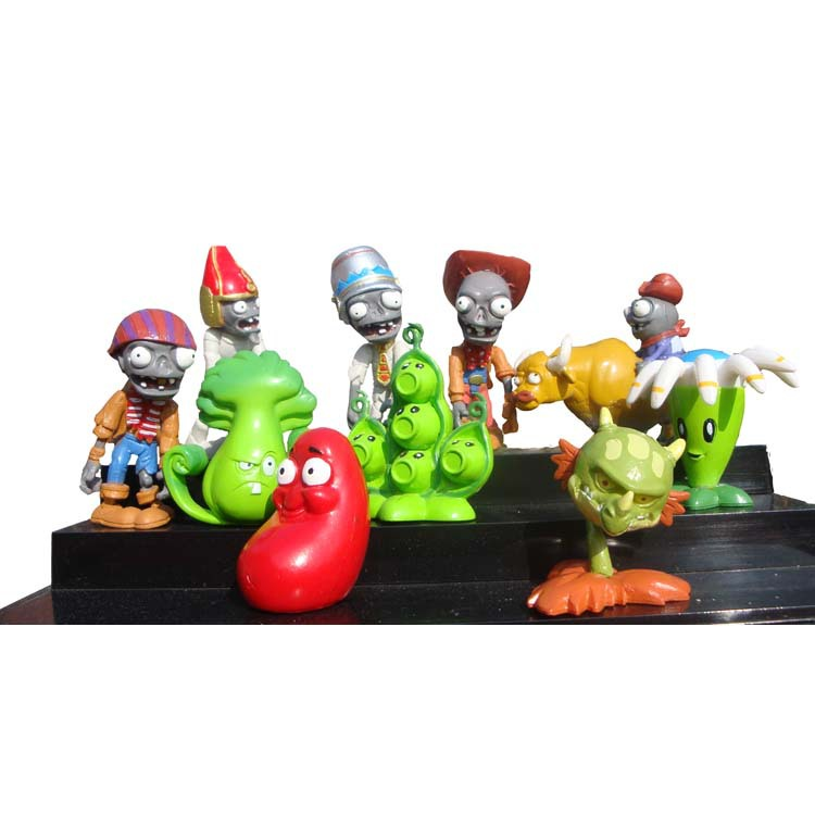 10pcs/lot PLANTS and ZOMBIES Trading Figures toys set Collection 5-7cm