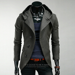 2016 new spring autumn men hooded cloak trench coat suit windbreaker slim jackets outerwear sobretudo masculino.jpg 250x250