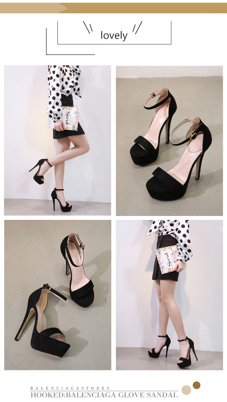 Aneikeh 2019 NEW 14.5CM Platform High Heels Sandals Summer Sexy Ankle Strap Open Toe Gladiator Party Dress Women Shoes Size 4-9