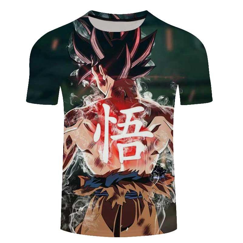 Dragon Ball Z T-shirt Super Saiyan 3d T Shirt Tees Tops Animation 3d Vegeta Hip Hop Men/boy Dbz Tee Shirts