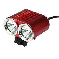 ISHOWTIENDA Usb Rechargeable Bike Light Front Handlebar 2 x 6000 LM CREE T6 LED 4 x 18650 Battery Bicycle Light Waterproof Lamp