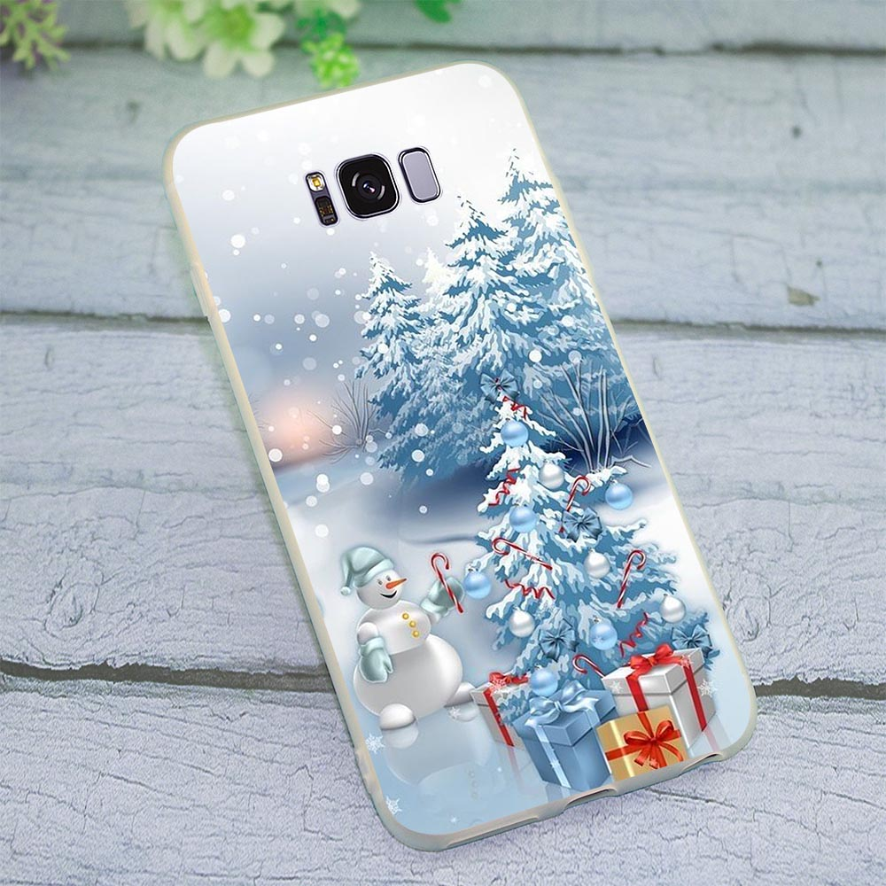 Case for Samsung Galaxy J5 2017 EU Christmas Phone Cover for J6 J7 A5 2017 A6 A7 2018 A8 A9 A10 A20 A30 A40 A50 A70 J3 in Fitted Cases from Cellphones Telecommunications