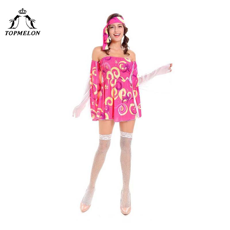 TOPMELON Women Pirate Dress Cosplay Uniform Halloween Holiday Shows Play Costume Set Floral Long Sleeve Mini Dress with Headwear
