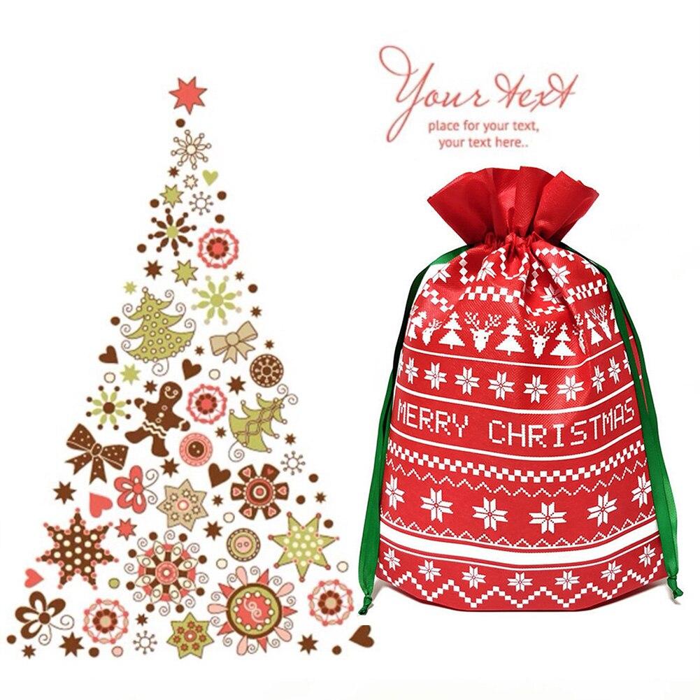 Christmas Lightweight Handbag Gift Drawstring Cute Home Kids Decoration Festival Candy Bag Sugar
