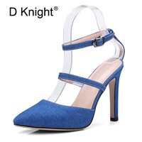 Sexy Extreme High Heel Sandals Women Summer Shoes Gladiator Lady Stiletto Sandal Pointed Toe Party Wedding Shoes Woman Plus Size