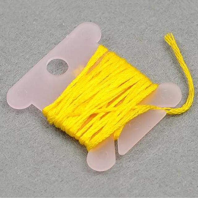 100pcs Plastic Embroidery Floss Holder Craft Thread Bobbins