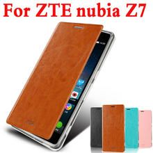 Mofi  Cover High Quality For ZTE nubia Z7 Case Leather Case Cover Phone Case Flip Leather Phone Bag Cover For ZTE nubia Z7