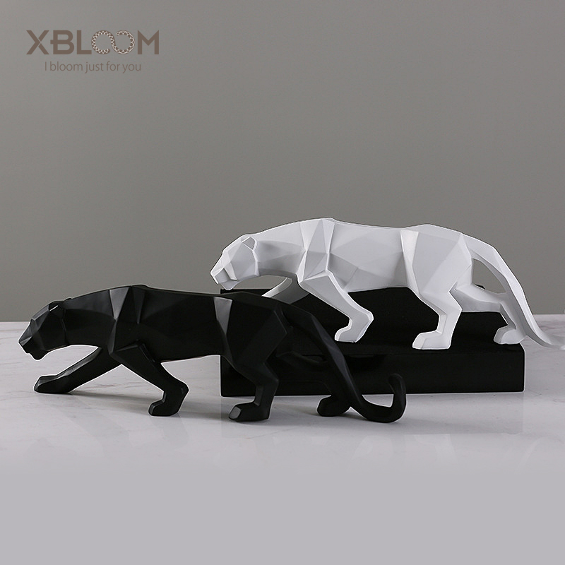 Modern abstract american cheetah tiger lion animal statue geometric origami home decor furniture home soft wedding decorationModern abstract american cheetah tiger lion animal statue geometric origami home decor furniture home soft wedding decoration