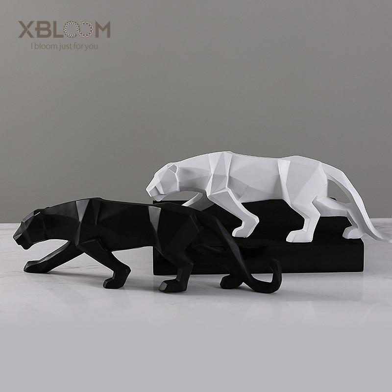 Modern abstract american cheetah tiger lion animal statue ...