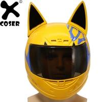 XCOSER DuRaRaRa Celty Sturluson Helmet Anime Cosplay Costume Props Motorcycle Type Full Head Mask Halloween Costume For Adult