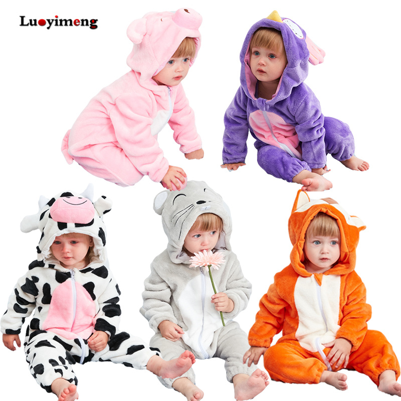 Baby   Rompers   New Born Baby Clothes Winter Stitch Animal Cartoon Kids   Romper   Girls Boys One-pieces Overalls For Children Clothing