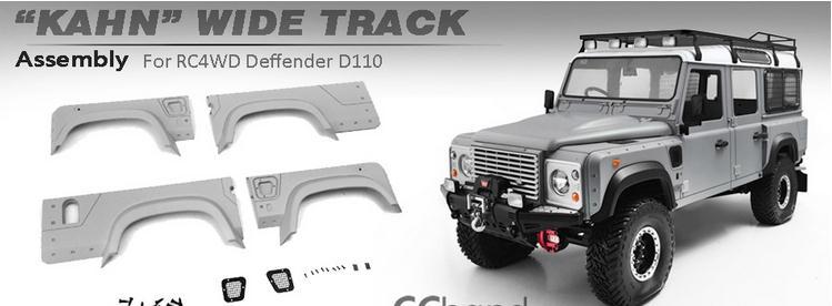 kahn wide track kits for 1 10 rc rc4wd land rover defender. Black Bedroom Furniture Sets. Home Design Ideas