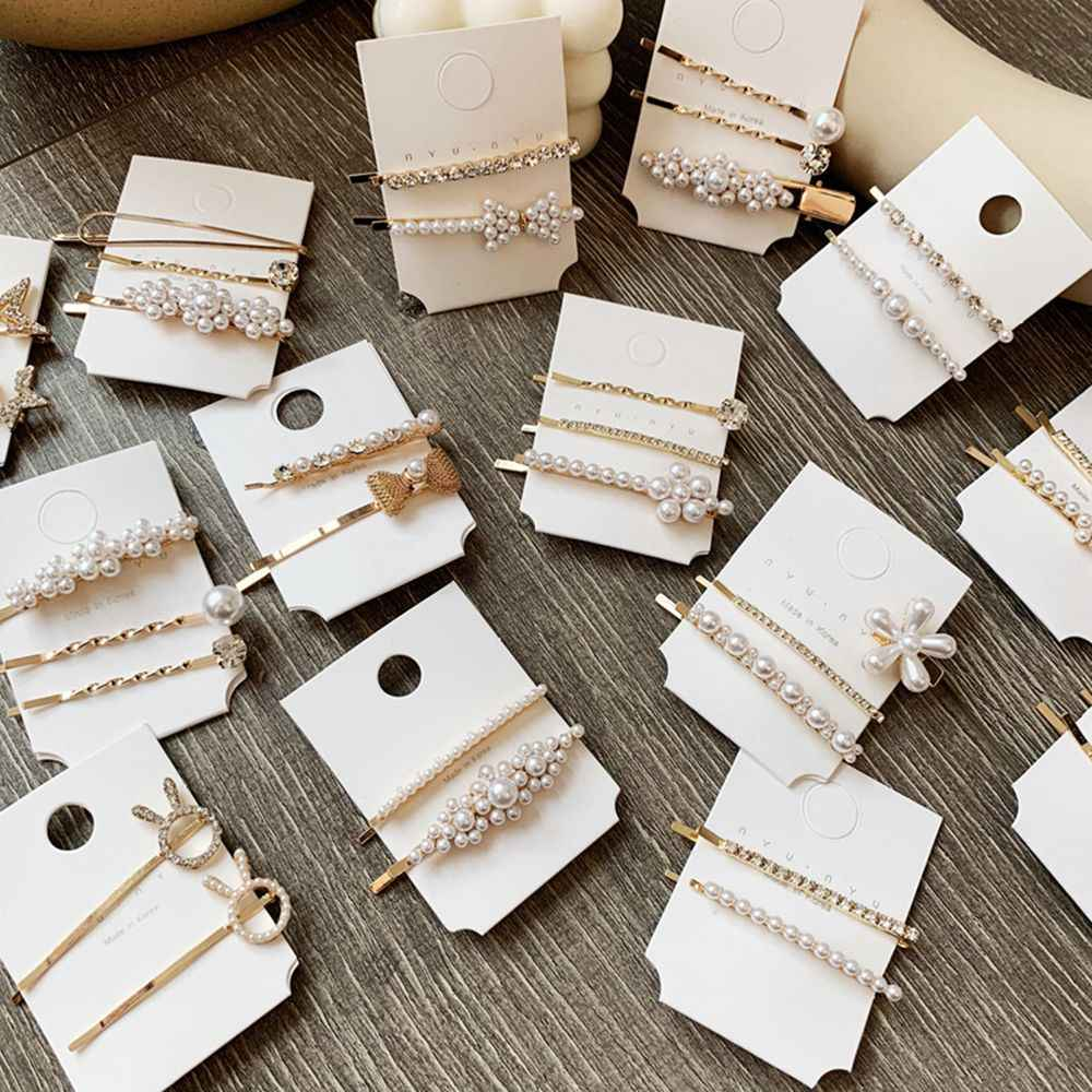 1 Set New Fashion Pearl Metal Hair Clip Hairband Comb Bobby Pin Barrette Hairpin Headdress Accessories Styling Tools For Women