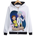 New fashion autumn Rick and Morty hoodie jacket coat with zipper cool styles for men women