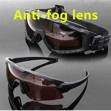 купить SI M Frame ALPHA Anti-fog Ski sunglasses cycling sun military goggles bullet-proof Army tactical glasses MTB shooting eyewear по цене 1051.87 рублей