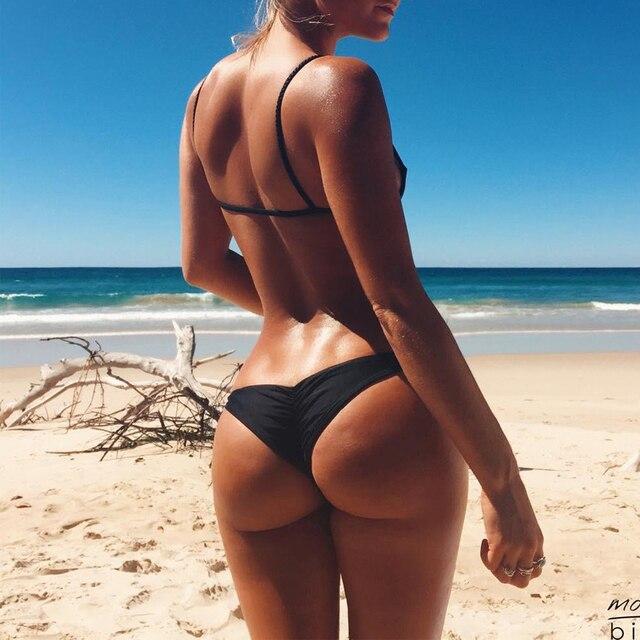 bc4fc8944d4 2017 Hot Sale Cheap Brazilian Bikini Bottoms Tanga Womens Ladies Sexy Thong  Bikini bottom Bathing Beach Short bas de bikini-in Two-Piece Separates from  ...