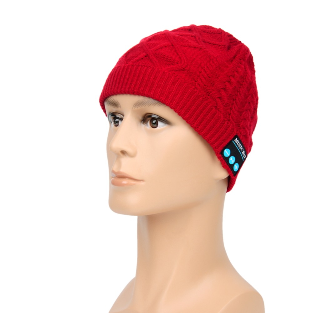 Beanie Hat Wireless Talk Call Bluetooth Smart Cap Headphone Headset Speaker Mic Skullies women cap skullies