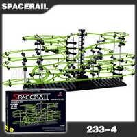 2200cm carril Nivel 4 mármol carrera noche luminoso resplandor en la montaña rusa oscura modelo de construcción Kit de juguete laberinto bola rodante escultura