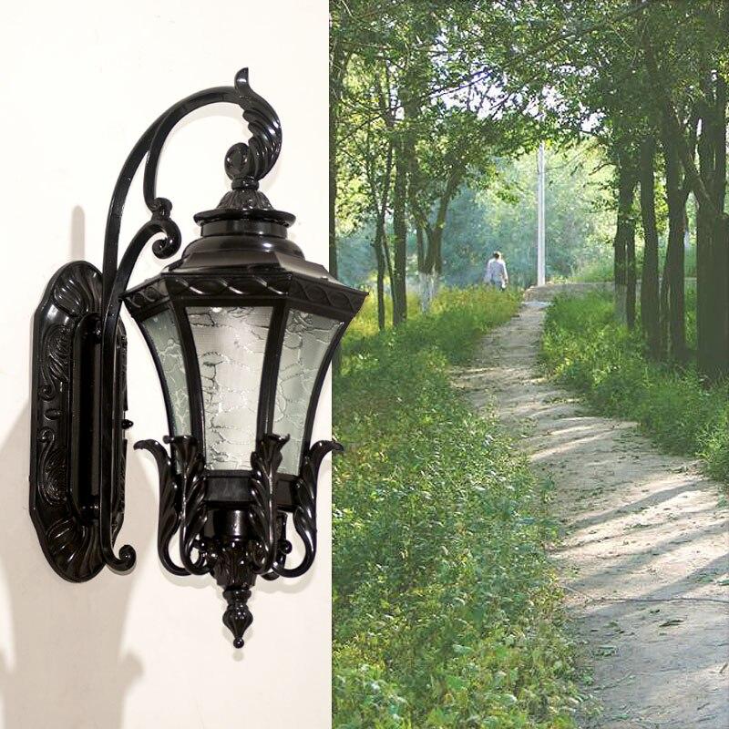 Открытый Водонепроницаемый настенный светильник светодиодный дверь наружного освещения бра Европейский Вилла балкон коридора свет ретро