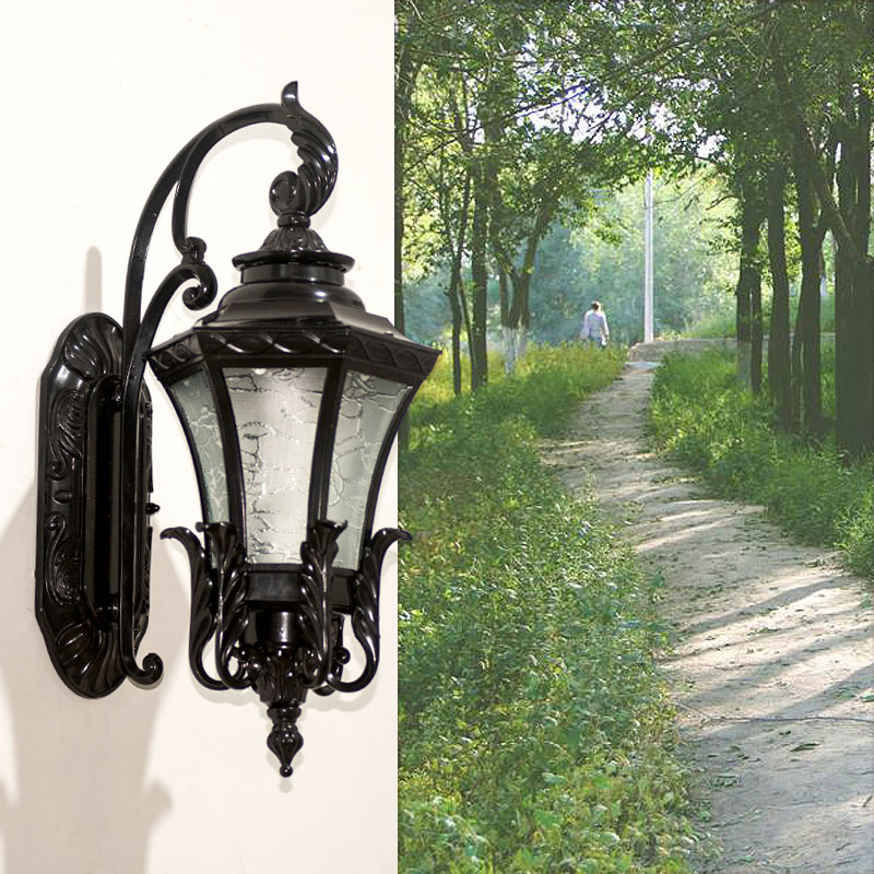 Outdoor Waterproof Wall Lamp led Doorway Outdoor Lighting Wall Lamp European Villa Balcony Corridor led Light Retro Street Lamps