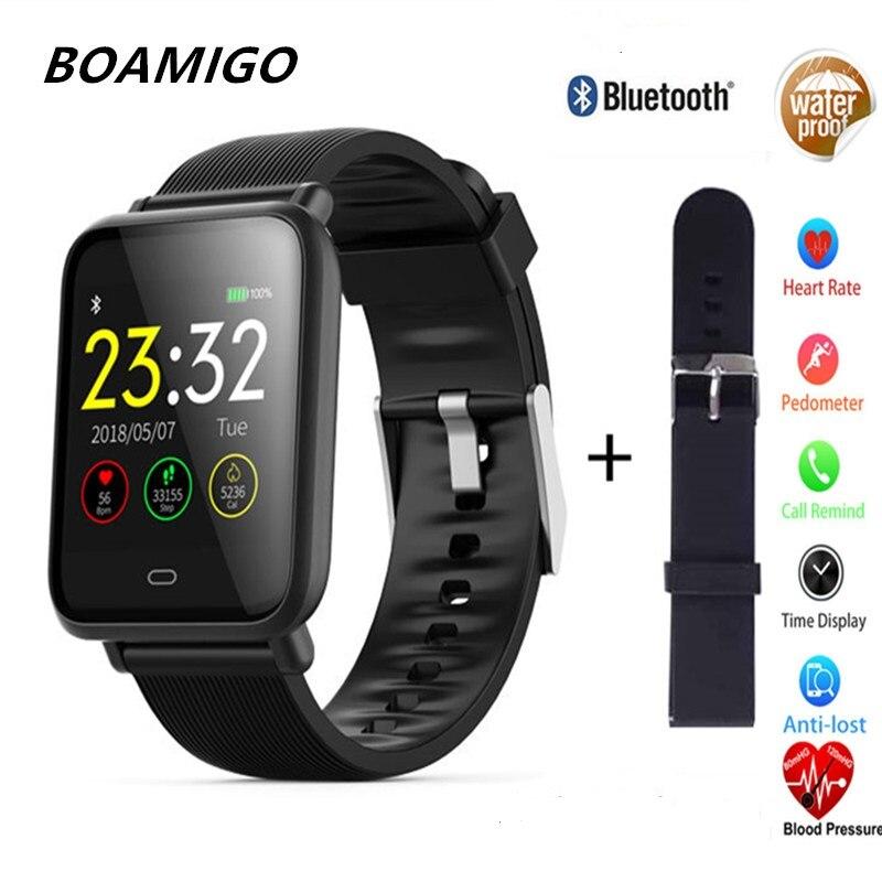 NUOVO Bluetooth Smart Watch in BOAMIGO Impermeabile Smartwatch Per IOS Android Fotocamera Del Telefono Calorie frequenza cardiaca Wristband Del braccialetto OLED