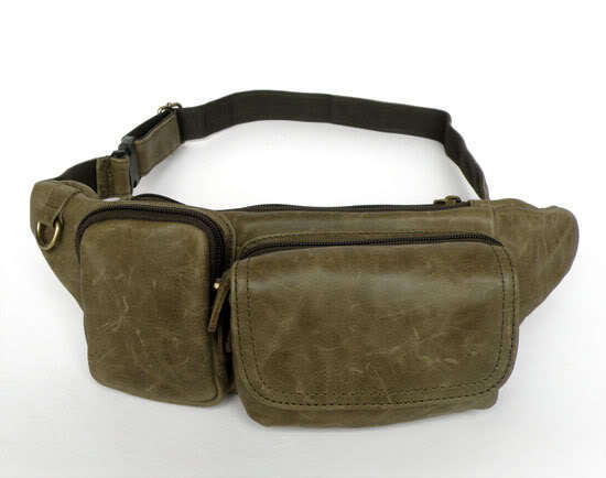 Individual Leisure Retro Trend Of Men Small Pockets genuine leather waist packs 7024m