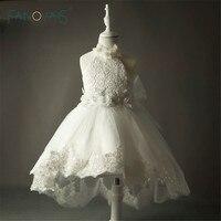 2015 Summer Kids Prom Dresses Communion White Flower Girls Dress Halter Princess Party Flower Girl Dresses