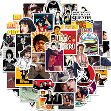 50PCS Classic Movie Pulp Fiction stickers Graffiti Stickers for Luggage Skateboard Phone Laptop Bicycle Wall Guitar Scrapbooking