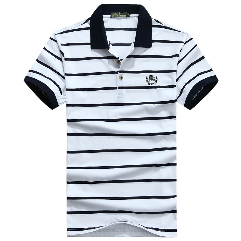 2017 Free Shipping AFS JEEP Brand Striped Cotton Polo shirt men's match club style Large size shirts short sleeves casual shirts